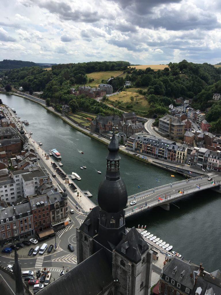 point de vue du haut de la citadelle de Dinant