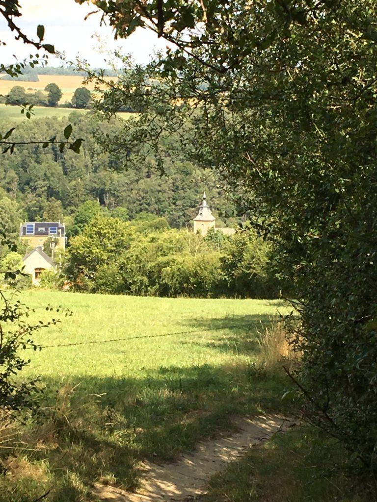vue sur le village de Crupet